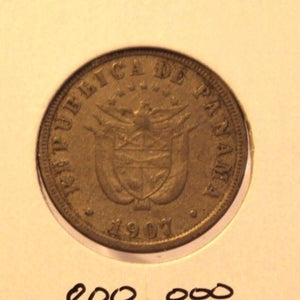 1907 Panama 2 1/2 Centesimos Coin with Holder thecoindigger World Estate