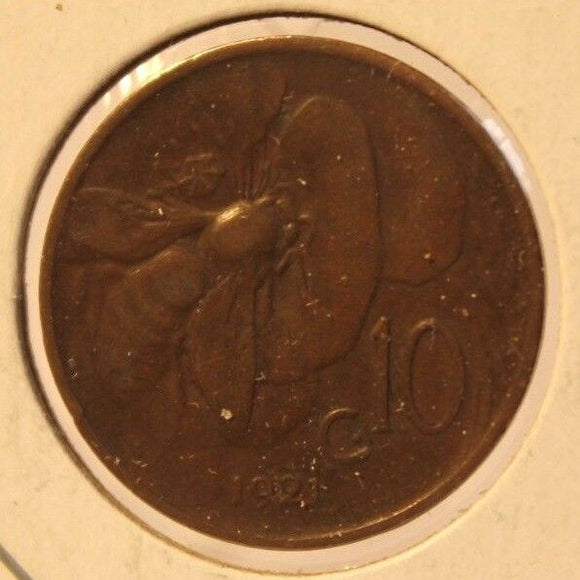 1921 R Italy 10 Centesimi Coin and Holder Thecoindigger World Coins Estates