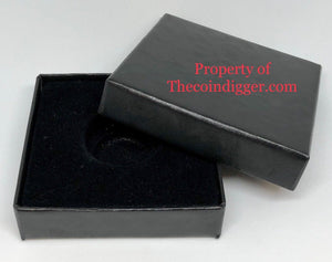 Black Gift Box Coin Holder Paper Display Storage 3x3 Case for Model A Capsule 10mm-20mm Ring