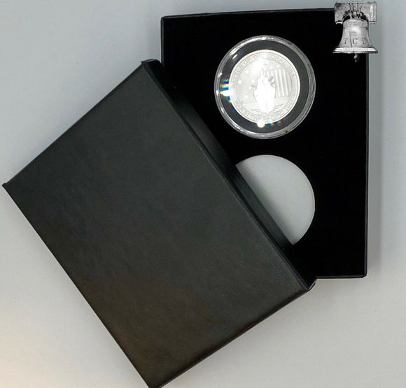 Air-tite Coin Holder Black Velvet Display Box Silver Insert + 2 Model H Capsule
