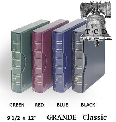 LIGHTHOUSE Coin Currency Album GRANDE Leather 3 Ring Binder ALL 4 COLORS COMBO