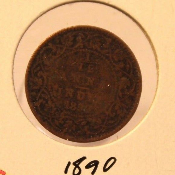 1890 British India 1/12 Anna Coin with Holder thecoindigger World Estates