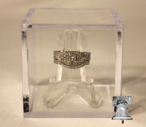 Ring Holder Display Case College Highschool Championship Box Clear Stand Cube