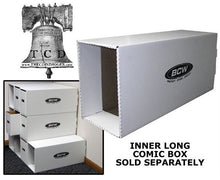 Load image into Gallery viewer, Comic House Long Box File Drawer for Books with Inner Support BCW Stack Storage
