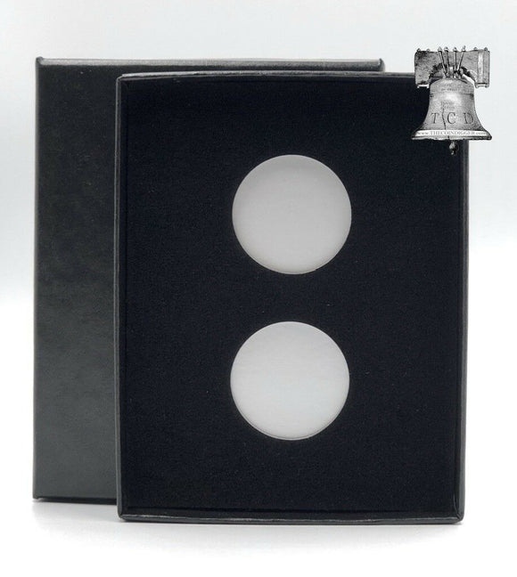 Air-tite Coin Holder Black Velvet Box Display Silver Insert Model A Storage Case
