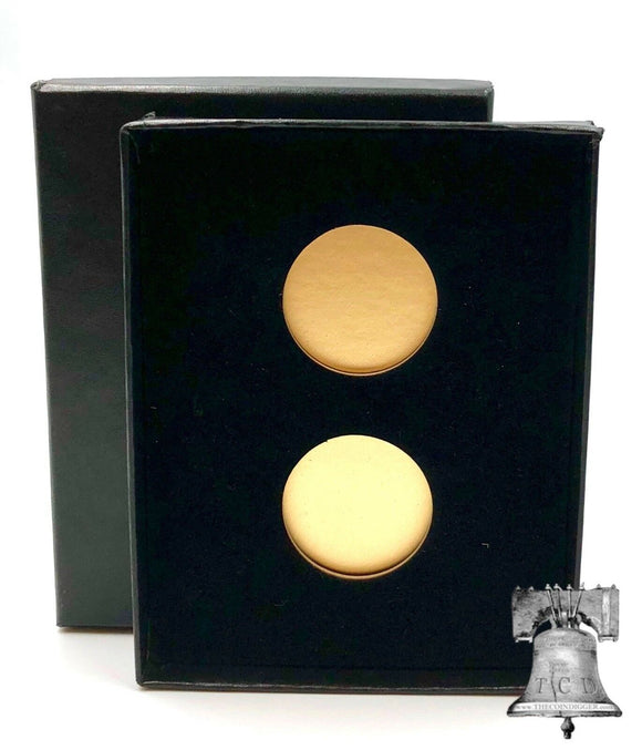 Air-tite Coin Holder Black Velvet Box Display Gold Insert Model A Storage Case