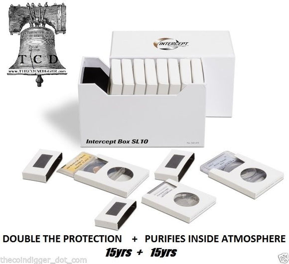Lighthouse INTERCEPT Double Protection Box for Coin Holder Slab 10pk IBDPSL10