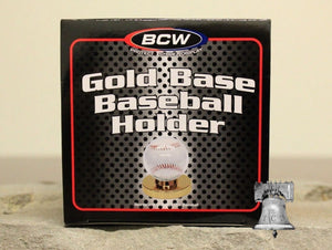 Baseball Holder BCW Deluxe Display Case Original Gold Base Stand MLB Autograph