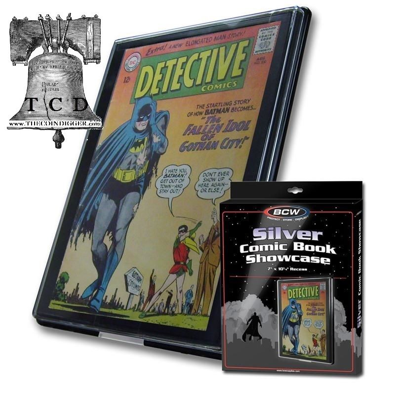 3 Comic Book Holder Showcase Frame Display SILVER AGE Wall Mount Case BCW Frame