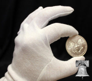 Inspection Gloves Silver Gold Coin Jewelry Stamp HEAVY DUTY Cotton LARGE 1x Pair