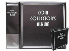 Load image into Gallery viewer, Deluxe Quarter Coin Holder Collector Kit Binder Album Page 200 Paper Flip Case