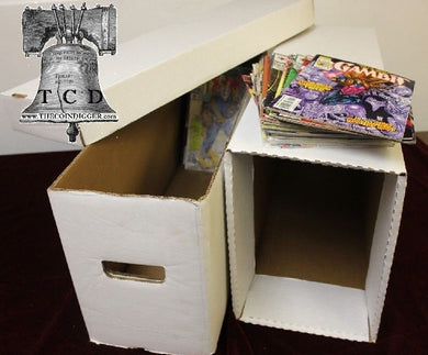 BCW Long Comic Book Box Holder Case House Storage + Inner Support Cabinet Kit