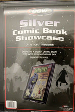 Load image into Gallery viewer, BCW Comic Book Holder Showcase Frame Display SILVER AGE Wall Mount Case Frame