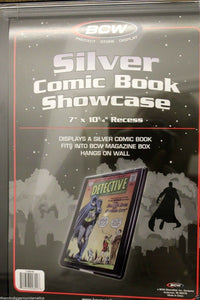BCW Comic Book Holder Showcase Frame Display SILVER AGE Wall Mount Case Frame