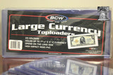 25 BCW Rigid PVC Topload Large Currrency Holder Red Funnyback Storage Case