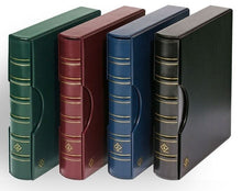 Load image into Gallery viewer, LIGHTHOUSE Coin Currency Album GRANDE Leather 3 Ring Binder ALL 4 COLORS COMBO