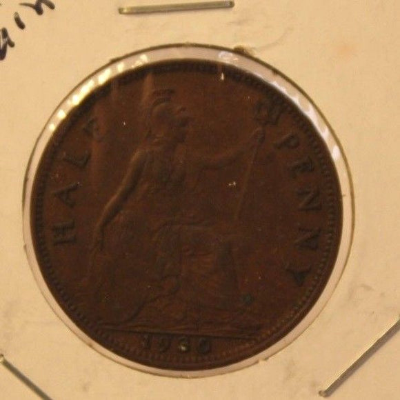 1930 United Kingdom 1/2 Penny Coin and Holder Thecoindigger World Estates