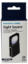 Load image into Gallery viewer, Bausch & Lomb 5x Pockette Magnifier Slide Sight Savers Loupe Currency Proview