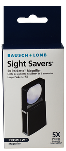 Bausch & Lomb 5x Pockette Magnifier Slide Sight Savers Loupe Currency Proview