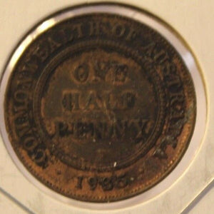 1935M Australia 1/2 Penny Coin with Holder thecoindigger World Coin Estates