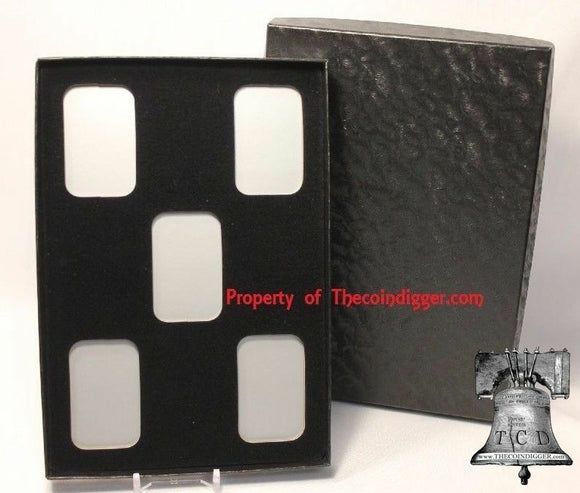 1 Air-tite Direct Fit Storage Box Capsule 1oz Silver Bar Holder 5 Insert Display