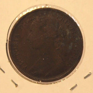 1885 Great Britain 1/2 Penny Coin with Holder  thecoindigger World Coin Estates