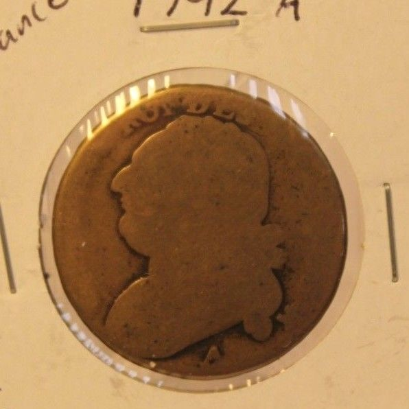 1792 A France 12 Deniers Coin and Display Holder Thecoindigger World Estates