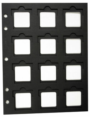 10 Coin Holder Slotted Paper 12 Pocket Page Black 2x2 Flip BCW Thumb Cut Storage