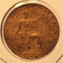 Load image into Gallery viewer, 1909 Great Britain 1/2 Half Penny Coin and Holder Thecoindigger United Kingdom