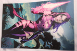 Psylocke Odagawa Autograph LARGE Comic Sketch Art POSTER 11x17 X-Men Marvel