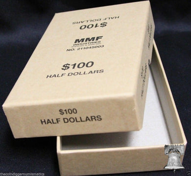 Half Dollar Coin Holder Roll BUFF Storage Box MMF Holds up to 10 Bank Rolls $100