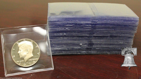 50 Coin Holder Submission Safe T Flip 2X2 No PVC Plastic Case Archival Safe