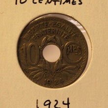Load image into Gallery viewer, 1924 France 10 Centimes Coin and Display Holder Thecoindigger World Estates
