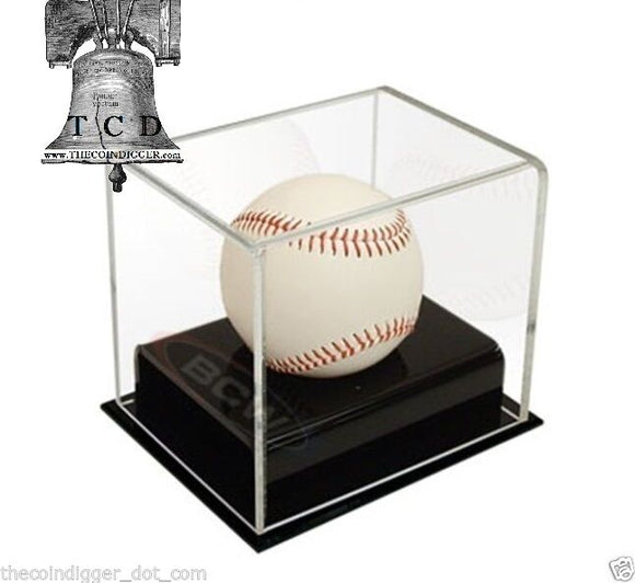 BCW Baseball Holder Deluxe Acrylic Display Case UV Protection Autograph Stand