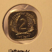 Load image into Gallery viewer, 1993 Eastern Caribbean 2 Cent Proof Coin and Holder Thecoindigger World Estates