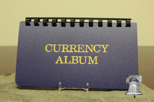 Small Currency Album Banknote Holder Modern Regular Size 10 Page Whitman Case