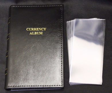 Lighthouse Currency Album Binder Modern Banknote + 20 Semi Rigid Topload Holder