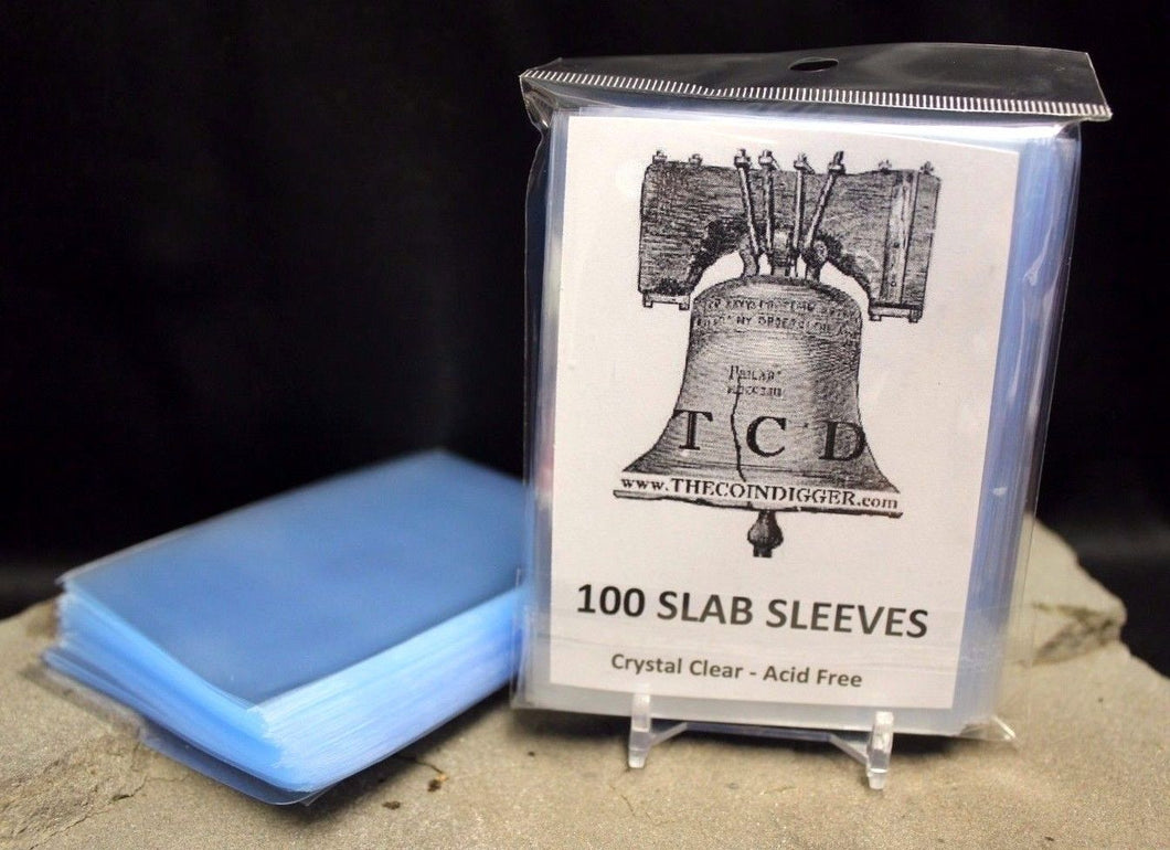 500 TCD Coin Slab Resealable Sleeves NGC PCGS Everslab Quickslab Sleeve Slabs