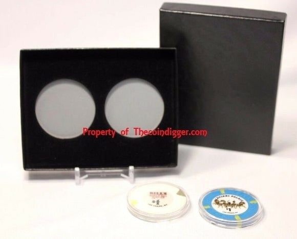2 Direct Fit Capsule Display & Coin Holder Storage Box