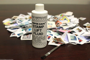 Stamp Lift Removing & Lifting Fluid 4oz Bottle with Brush Super Safe Stamps Care