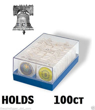 Load image into Gallery viewer, 100 Canadian Silver Maple Leaf Self Adhesive 39mm 2x2 Coin Holder + Storage Box