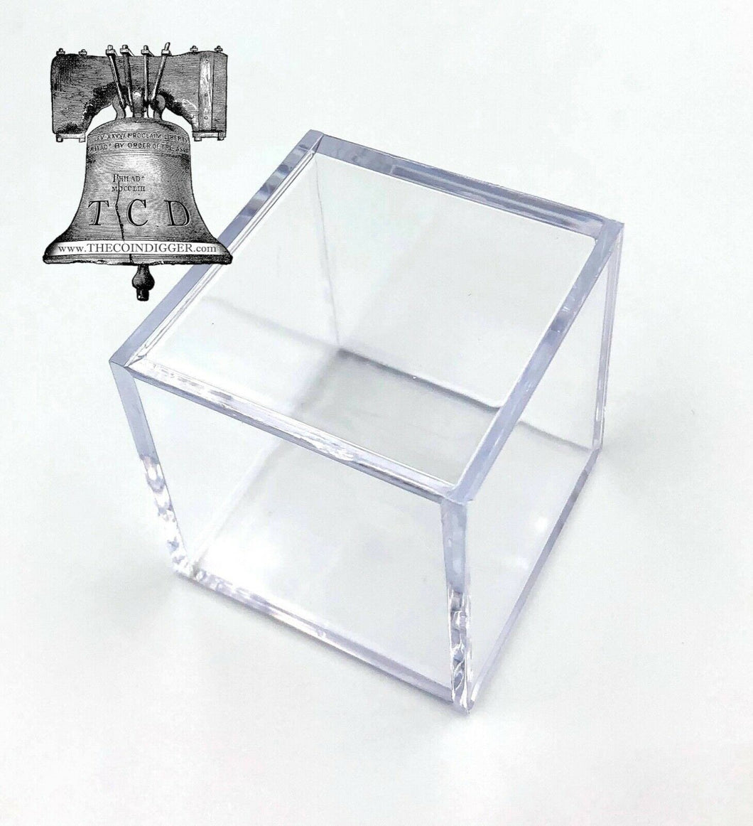 1 Golf Ball Holder Display Square Case BCW 2x2x2 Stackable Cube Stand Protector