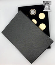 Load image into Gallery viewer, Air-tite Coin Holder Black Velvet Display Box Gold Insert Model A Storage Case