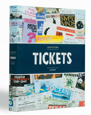 Ticket Album Holder Book Folder 11x13 Hard Cover 26 Page Sheet up to 156 Tickets