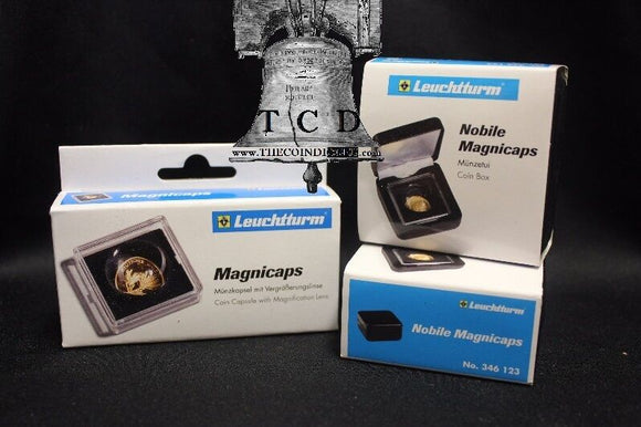 2 NOBILE MAGNICAP Display &  MAGNICAPS Coin Holder Case 14mm - 20mm