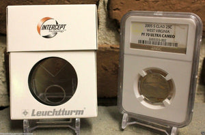 5 Lighthouse Intercept Technology Single Coin Holder Slab Box ANTI-TARNISH Case