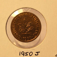 Load image into Gallery viewer, 1950 J German 5 pfennig Coin with Holder thecoindigger World Coin Estate