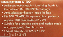 Load image into Gallery viewer, Lighthouse INTERCEPT Coin Storage Q100 Box DOUBLE ROW for 2x2 Holder QUADRUM