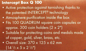 Lighthouse INTERCEPT Coin Storage Q100 Box DOUBLE ROW for 2x2 Holder QUADRUM
