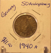 Load image into Gallery viewer, 1940 A Germany SD Reichspfennig Coin with Holder thecoindigger World Coin Estate